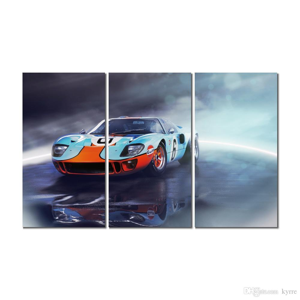 ford gt sports car canvas print arts pictures for dining room decor