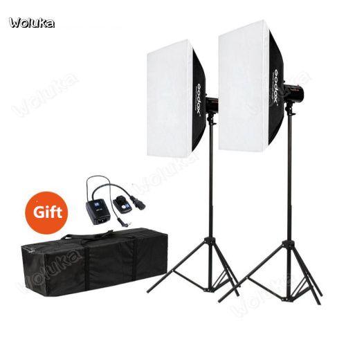 Godox 200W double light set Studio flash studio portrait ID e-commerce  product shooting light CD50 T08