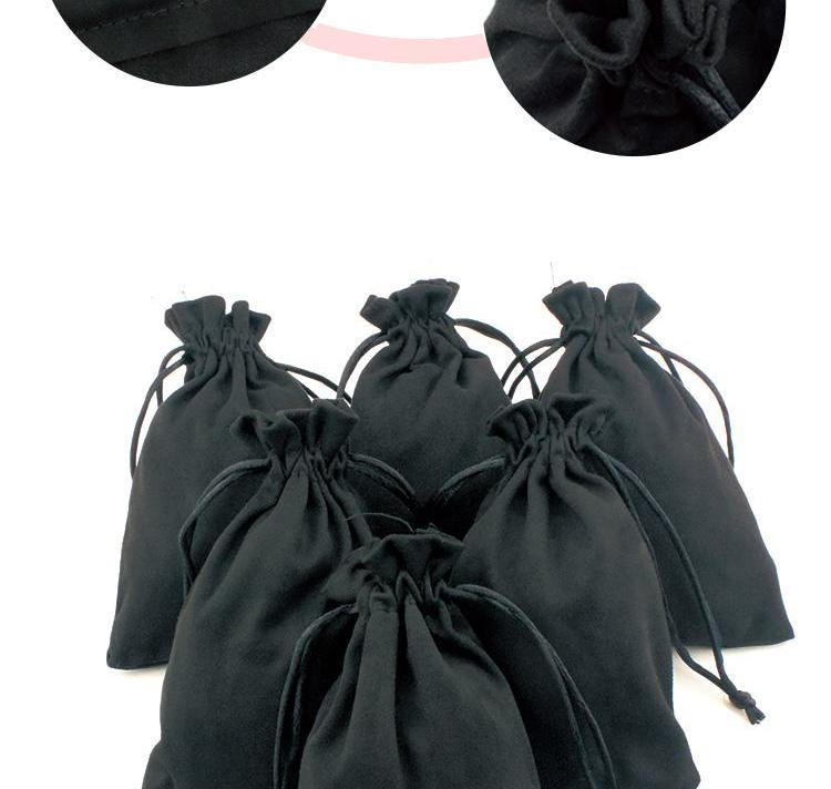 Black Silk Cloth Flannelette Suede Jewelry Soft Velvet Packing Scald Golden Pouch Christmas Travel Cosmetic Gift Bags