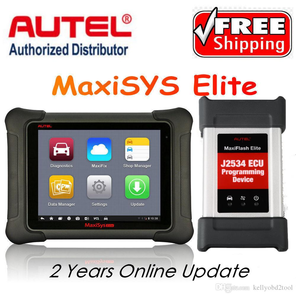 AUTEL MaxiSys Elite Car Diagnosis J2534 ECU Programing tool Faster Than  Autel maxisys pro MS908p Free Update 2 Years On Autel Website