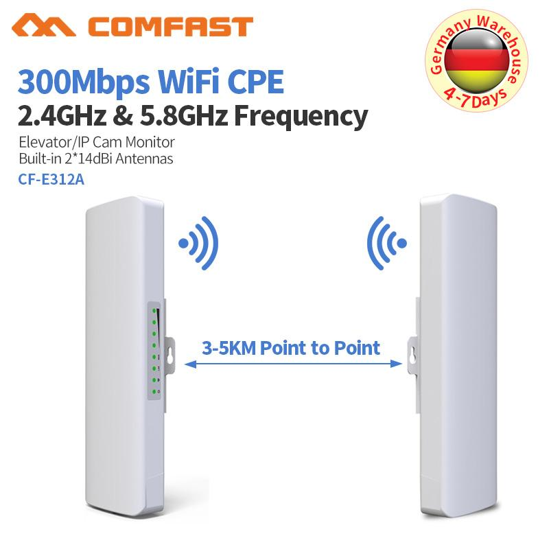 3-5KM Wireless Bridge 5 8GHz 300Mbps Outdoor Wifi CPE Router 2*14dbi  Antenna Wi fi Extender Access Point Wireless CPE