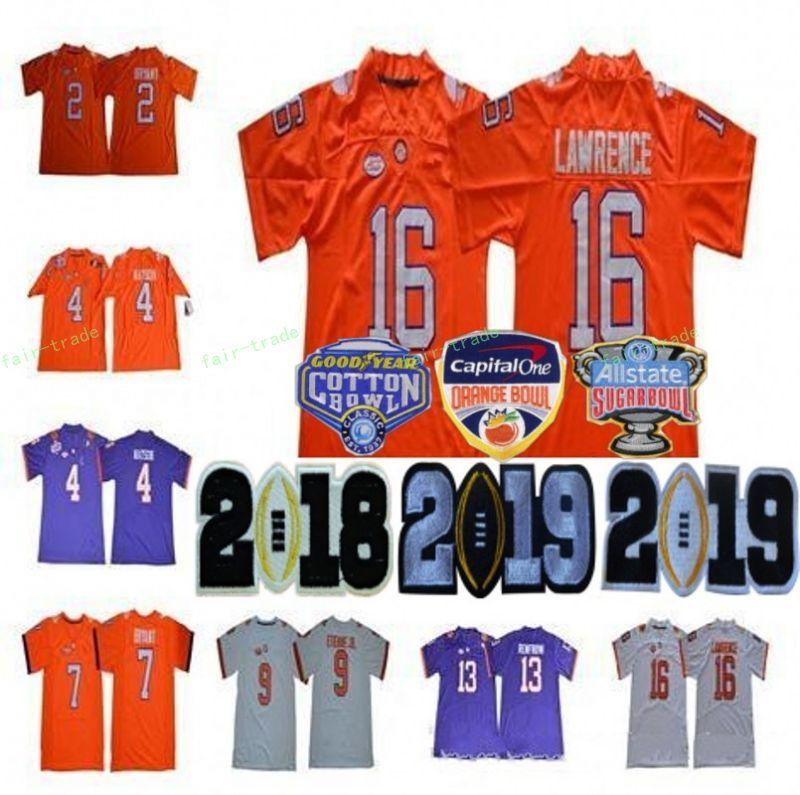 82d4cef246b 2018 Cotton Bowl NCAA Clemson Tigers 16 Trevor Lawrence Jersey 2 ...
