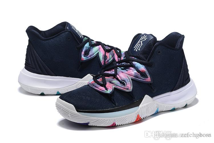buy online 72fc8 3160e 2019 sale Kyrie 5 V Black Magic Multi-Color Confetti Irving 5 Sport  Sneakers Charms Irving Basketball Shoes Size us7-12 zefengboss