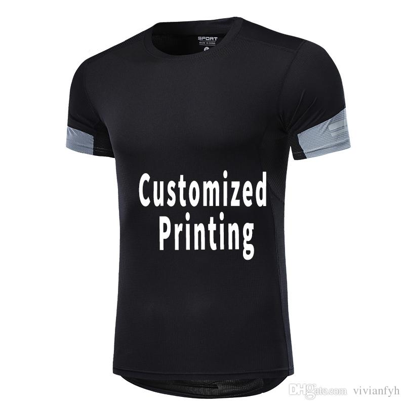 cc78a028 Sports Team Shirts For Men Customized Brand Logo Printing Sport Training  Shirts With Reflective Stripe Random Graphic Tees Quirky T Shirt Designs  From ...