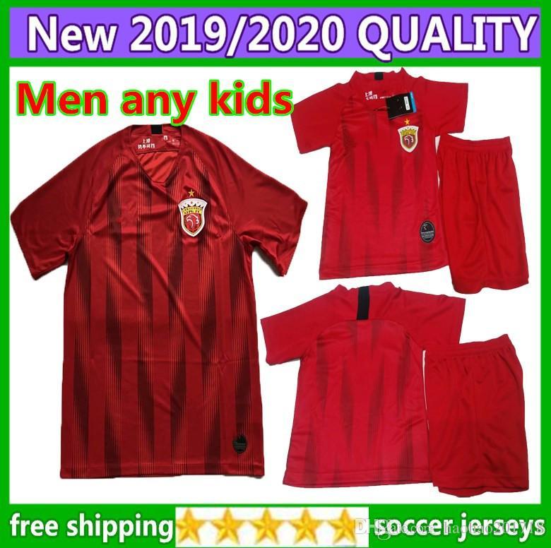 5a58a324e6a 2019 Kids Kit 2019 Shanghai SIPG Football Wu Lei Home Men Soccer Jerseys 19  20 Oscar DOS Santos Santos Emboaba Junior Men Football Shirts From  Haohao201718