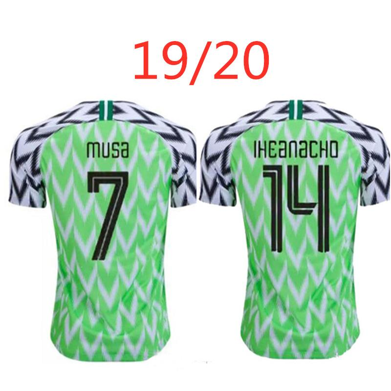 OCOCHA AHMED MUSA MIKEL soccer jersey 2019 2020 IHEANACHO home new top thai adult quality A+++ football shirt