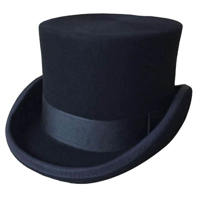 551af69365f Halloween Cosplay Magician Magic Caps Steampunk Wool Top Hats For Women Men  British Fedora Masquerade Party Packaging With Box Black Hats Scala Hats  From ...