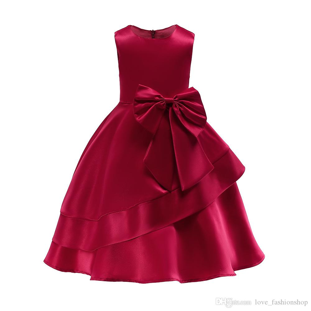 af69467dd84e2 1pcs Baby Girls Big Butterfly Wedding Dress 2019 Kids New Year Red Pink  Navy Full Prom Party Princess Dresses Dancewear boutique Clothes
