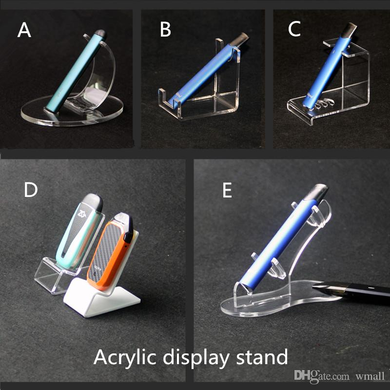 Flat Vape Pen Acryl-Displayständer E cig Pods ecig Kit Display-Regal Einweg-Vape Pen Rack-Halter