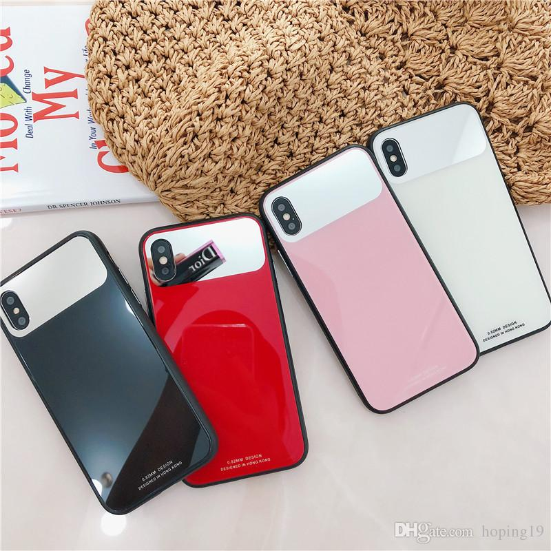 Cool Mirroir Make Up Case Glass Phone Case For IPhone 6 6S 7