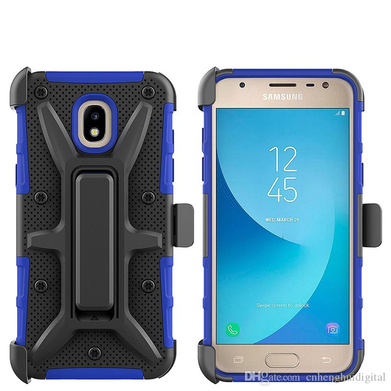 b2e17318c4b Robot Case For LG Q7 Plus MetroPCS Samsung J2 Pure Shockproof Combo  Kickstand PC TPU 3 In 1 Phone Cover At Least Custom Phone Cases Phone Cases  From ...