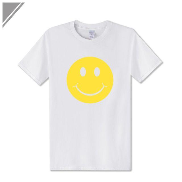 7f368aa9f540 2019 Men S Designer Clothing Tshirt New Fashion Cute Acid Smiley Face  Expression Printed Men'S T Shirt Short Sleeve O Neck Cotton T Shirt Men Shirts  T Shirt ...