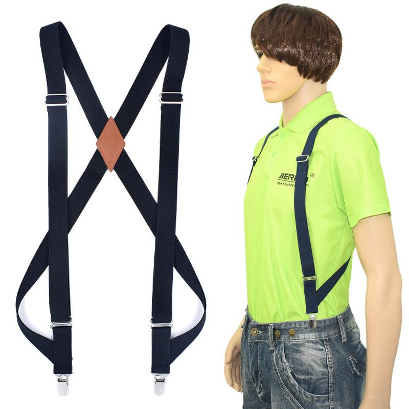 New Men's Suspenders Braces Hunting Suspenders Outdoor Motorcycle Strap Adult Suspensorio Tirantes Hombre Bretelles