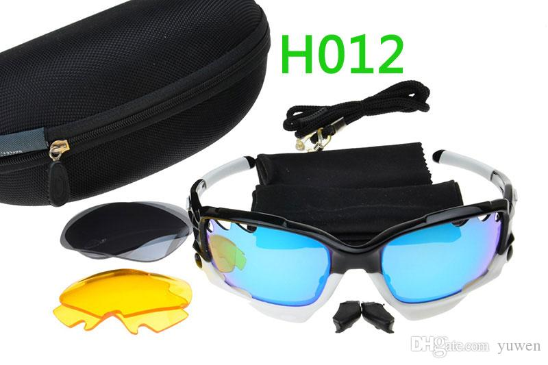 High Quality 3 Lens Sun glasses Sport Brand womens Sunglasses mens glasses Bicycle Cycling Eyewear Glasses Sport Sunglasses Lens With Boxs
