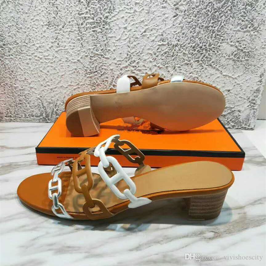 origem pacote de moda metálico de prata do desenhador saltos med luxo tamanho sandálias femininas de grife diapositivos 35 a 42