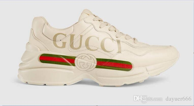 443f365add6 GUCCI Fashionable Sales Of Large White Shoes Leather Designer ...