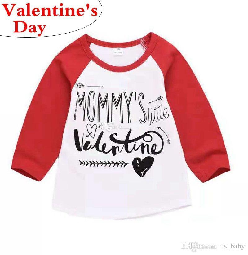d138e2616 Valentine Day Girl Letter Print Tops Summer Autumn T Shirt for Girls ...