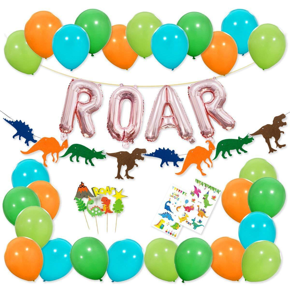 2019 2019 hot dinosaur roar theme happy birthday party garland banner tattoo sticker balloon decoration party set from syjing818 9 8 dhgate com