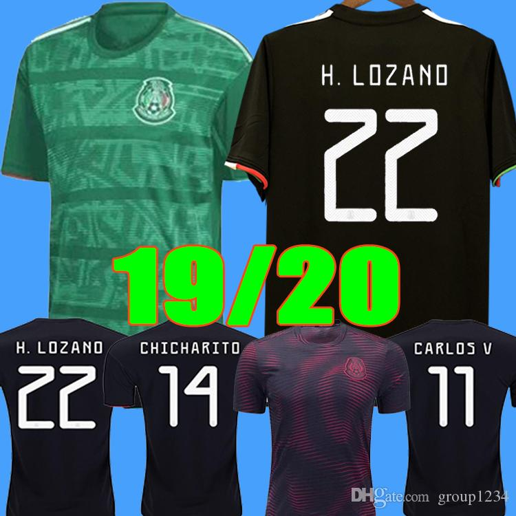 S - 2XL Gold Cup 2019 2020 Camisetas Mexico 19 20 MEN WOMEN Kids soccer jersey CHICHARITO LOZANO long sleeve football shirt player version