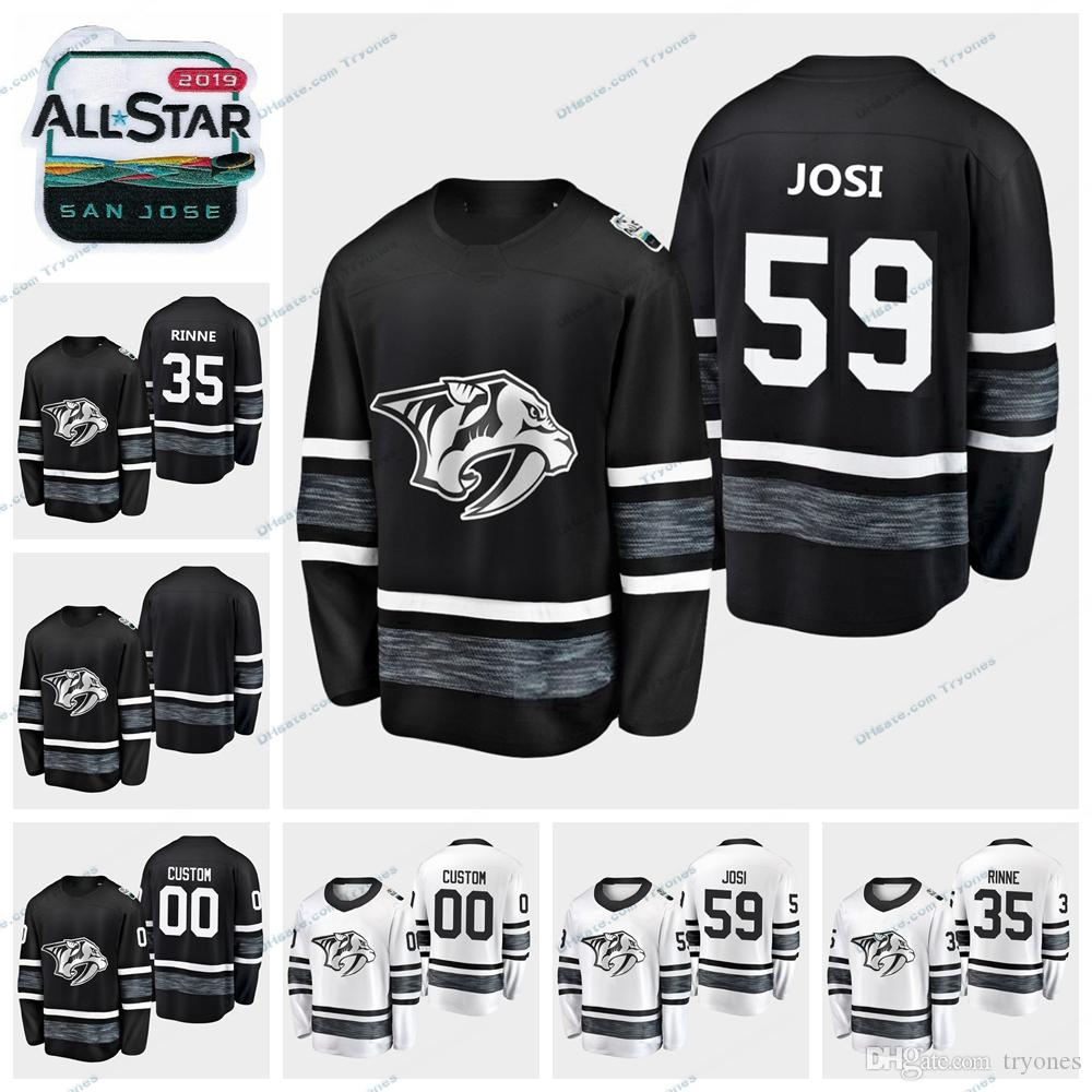2019 2019 All Star Game Nashville Predators Stitched Jerseys Mens Black  White Customize 35 Pekka Rinne 59 Roman Josi Hockey Jerseys From Tryones 9bbfca375