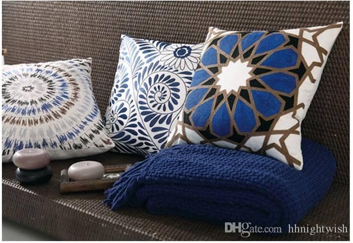 Divano In Lino Bianco : Acquista cuscino in lino bianco e nero cuscino la casa divano