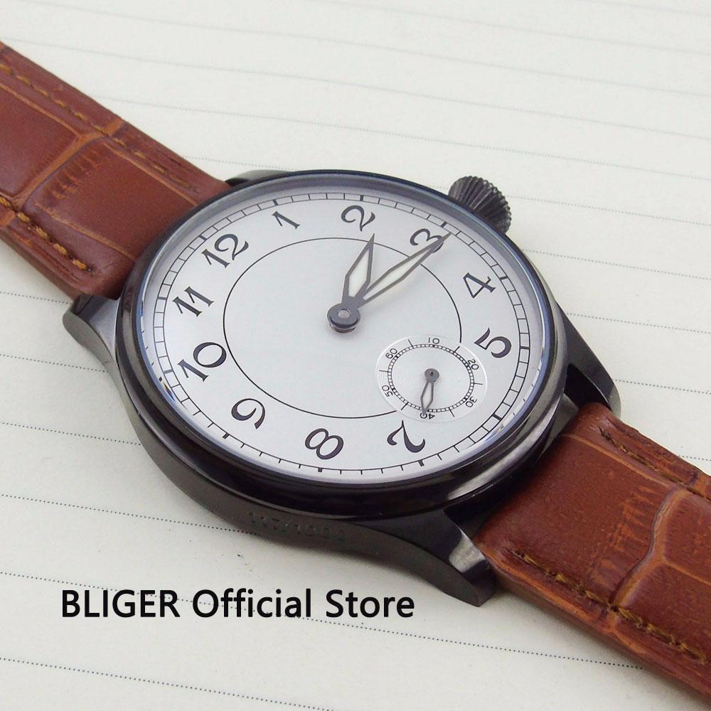 498a1b998 Compre Moda 44mm Reloj Blanco Con Esfera Grande, Para Hombre Reloj PVD  Estuche Recubierto 17 Joyas 6498 Movimiento De Cuerda Manual Reloj Para  Hombre A ...