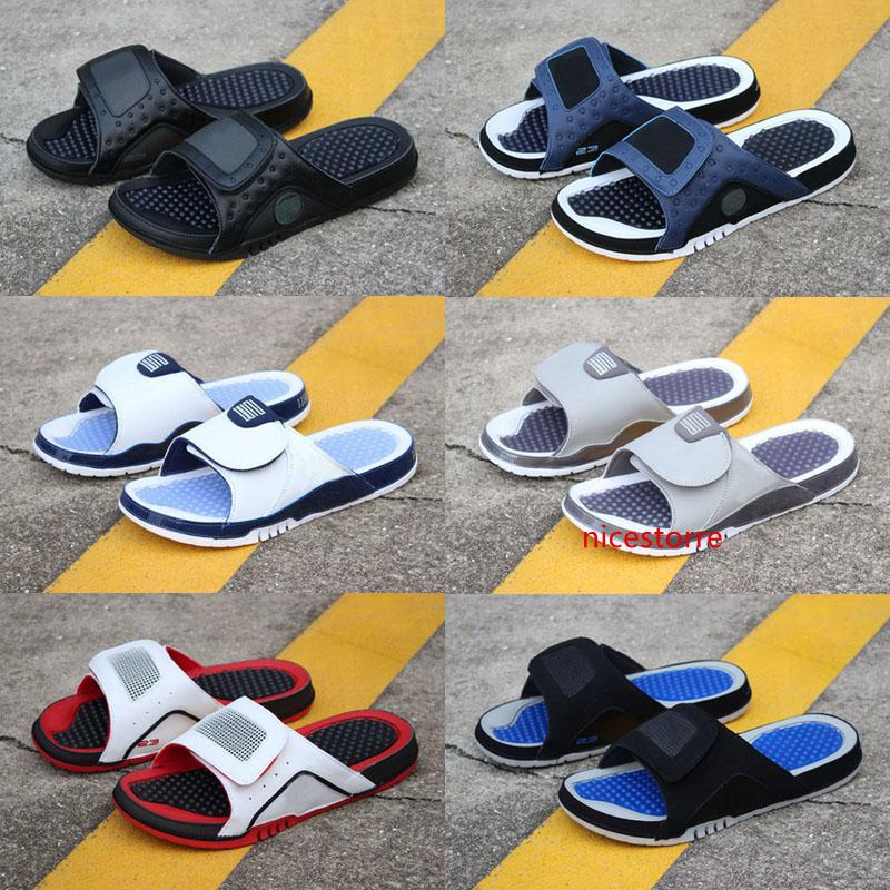 Jumpman 4 slippers sandals Hydro IV 4s Slides black Free shipping men basketball shoes 11 XI 6 VI shoes outdoor sneakers size 7-13