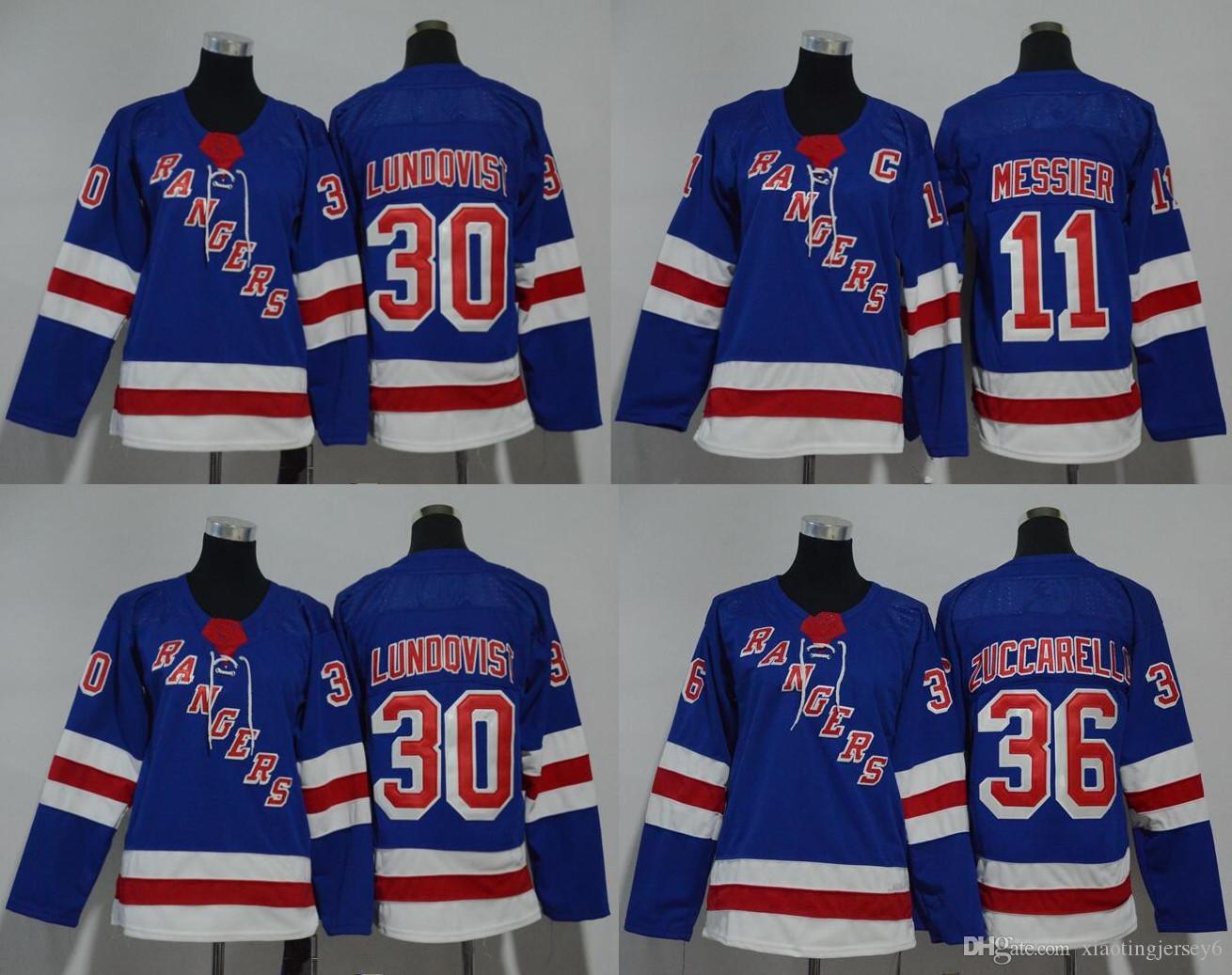 2019 New York Rangers 2018 Winter Classic Jerseys 11 Mark Messier 30  Lundqvist 36 Zuccarello 20 Kreider Youth Stiched Jerseys S XL From  Xiaotingjersey6 f81148a3b9c