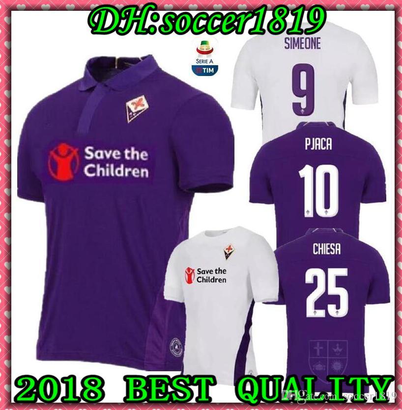 338206b74 2018 2019 ACF Fiorentina Home Purple SOCCER JERSEY Pjaca Chiesa ...