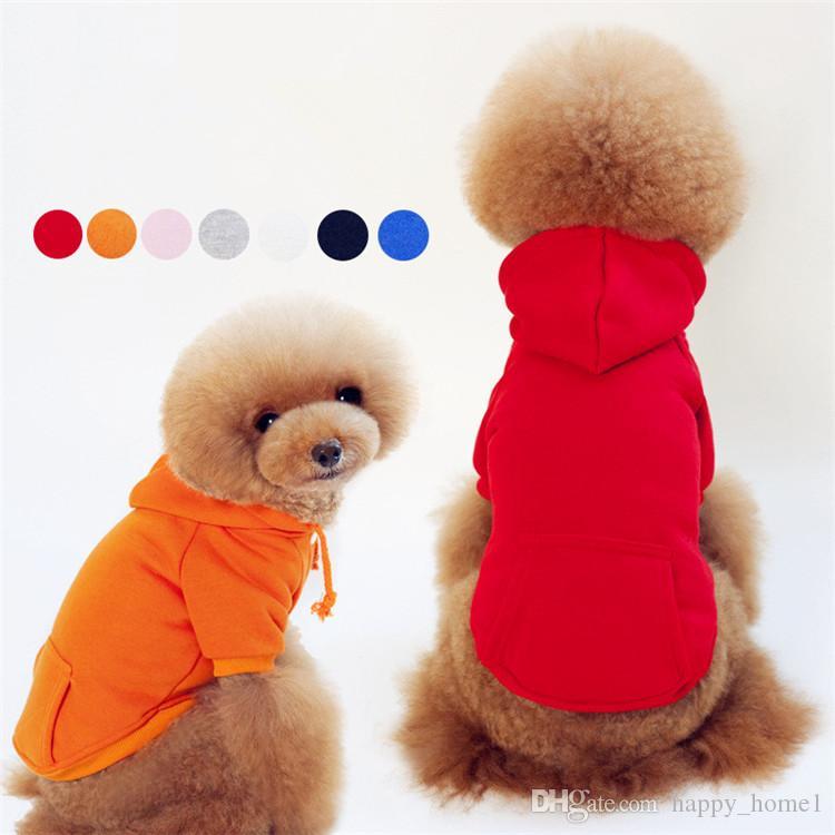 74ea652c8d34a Acheter Coton Peluche Animal De Compagnie De Mode Chandail À Capuchon Chien Vêtements  Costume De Chien Cols Roulés Automne Hiver Chaud Vêtements Chien Chiot ...