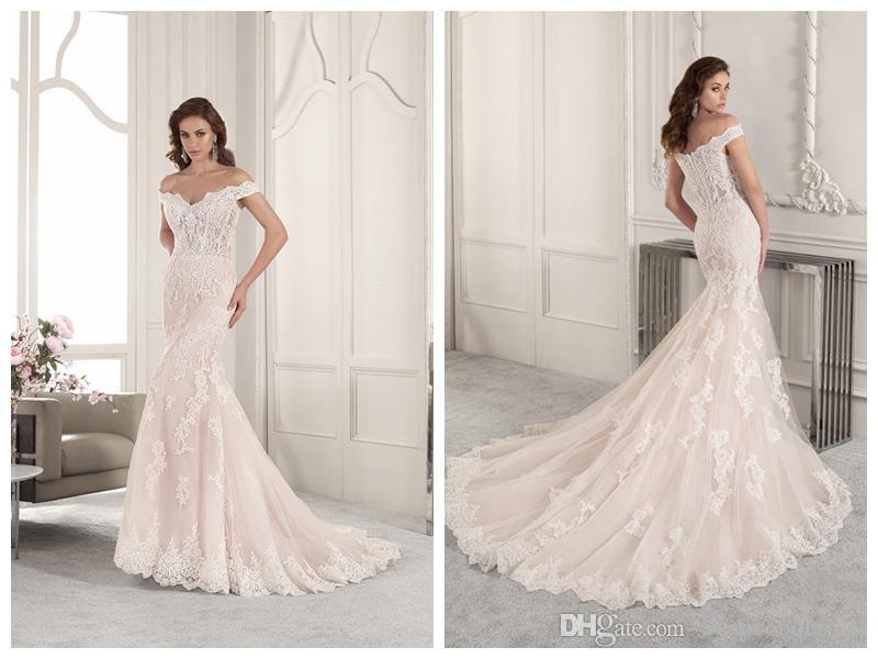 Demitrious Wedding Gowns.2019 Wedding Dresses Robe De Mariee Demetrios 861 Ivory Lace Mermaid Wedding Dress Off Shoulder Scalloped Applique Wholesale Custom Made