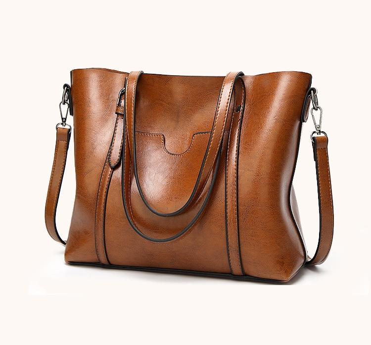 a5ce703047a8 2018 New Fashion Soft Real Genuine Leather Tassel Women Handbag ...