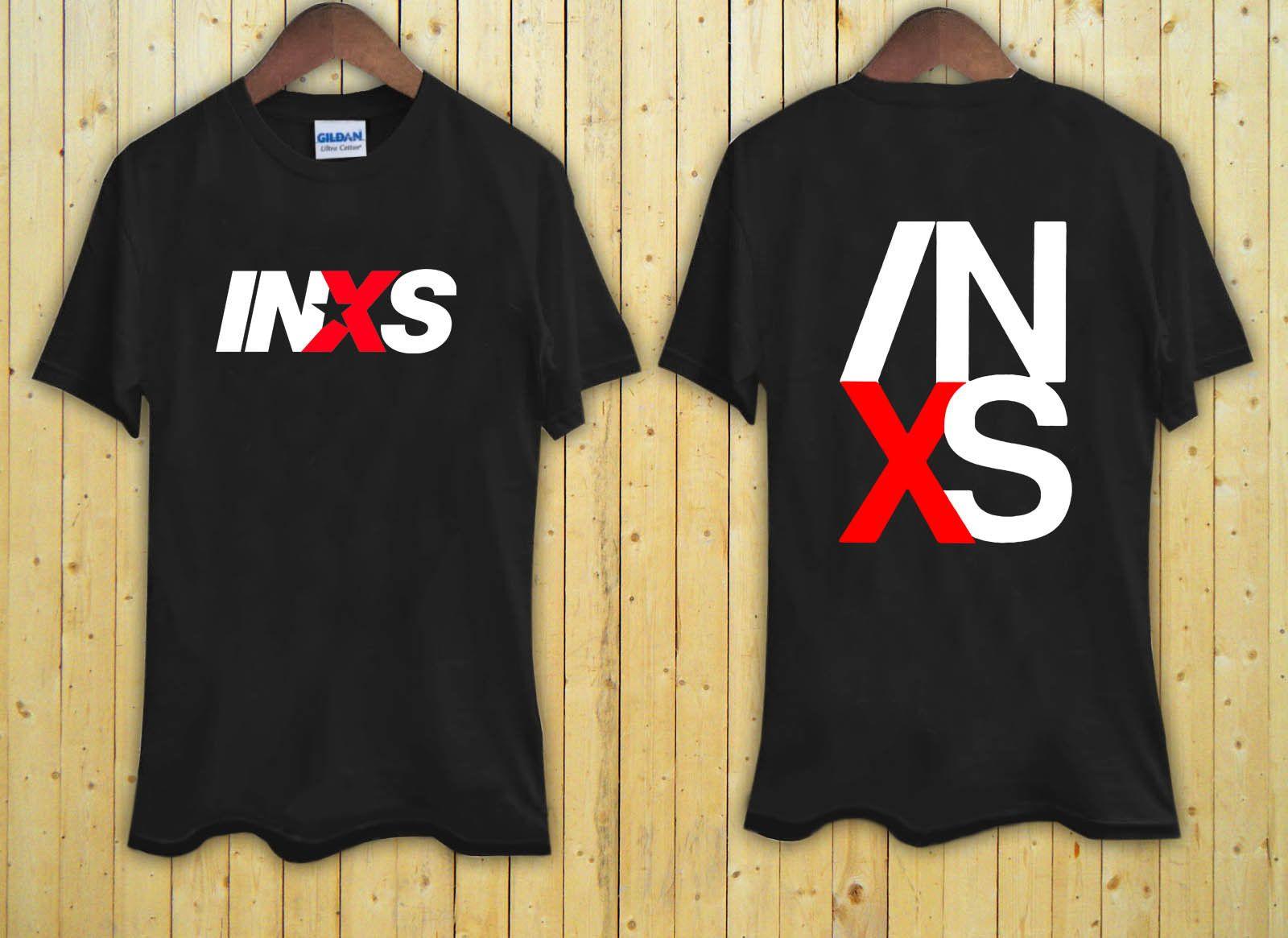 732eb9b939a INXS Australian Rock Band Legend Logo Black T Shirt XS S M L XL 2XL 3XL Men  Women Unisex Fashion Tshirt Funny T Shirts Online Hilarious T Shirts From  ...