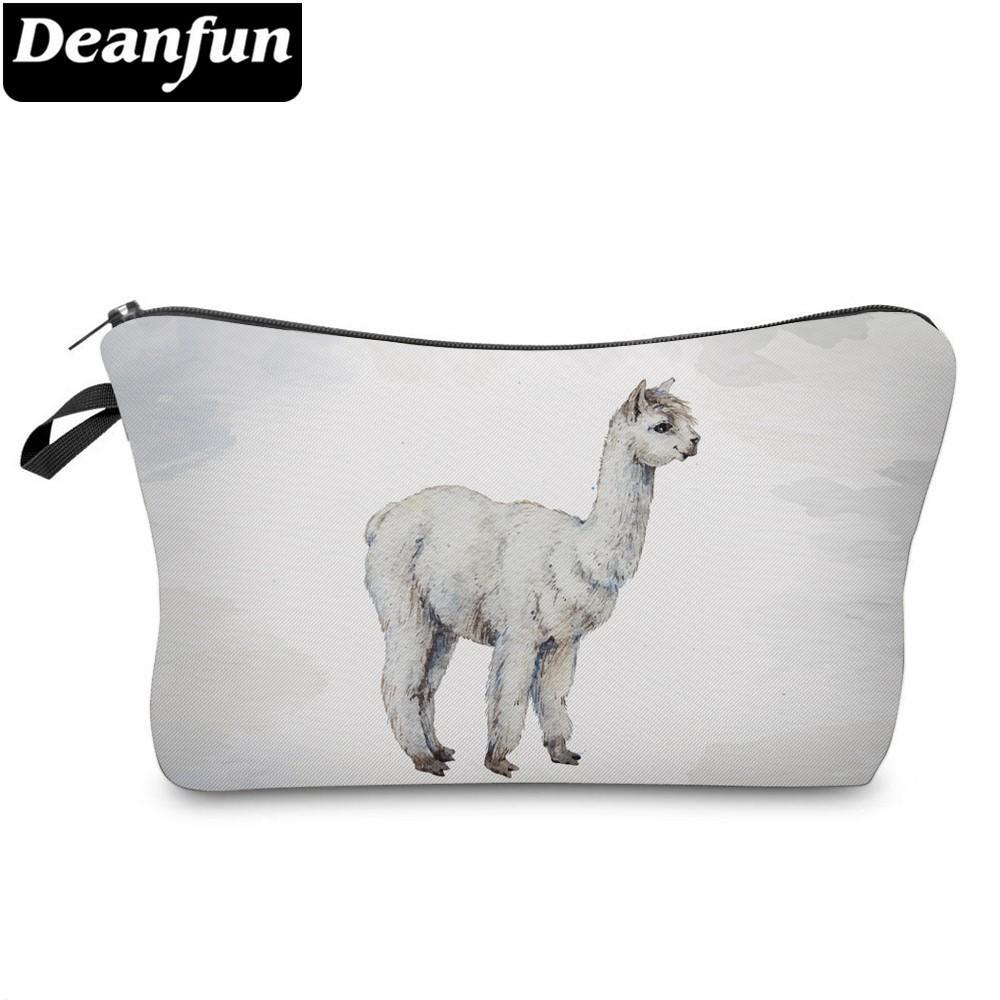 0ab3fc32 Compre Deanfun Impermeable Vivid Impreso Llama Bolsa De Cosméticos Lindo  Alpaca Maquillaje Bolsa Necessaire Para Regalo De Viaje Dropshipping 51376  A $35.39 ...