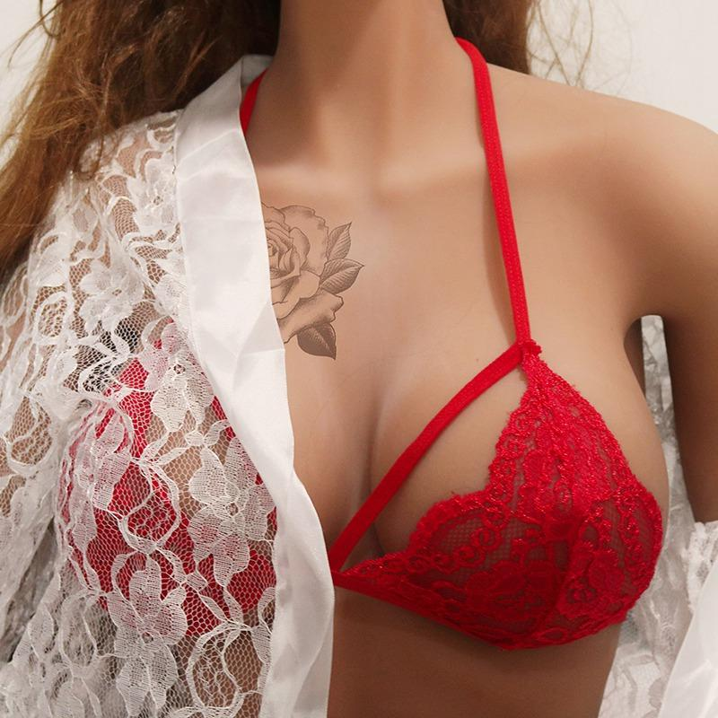 767fcc30dd 2019 New Floral Lace Bra For Women Wireless Push Up Bra Sexy Lingerie Strappy  Bralette Seamless Underwear Black Bras X2 From Bigseaa