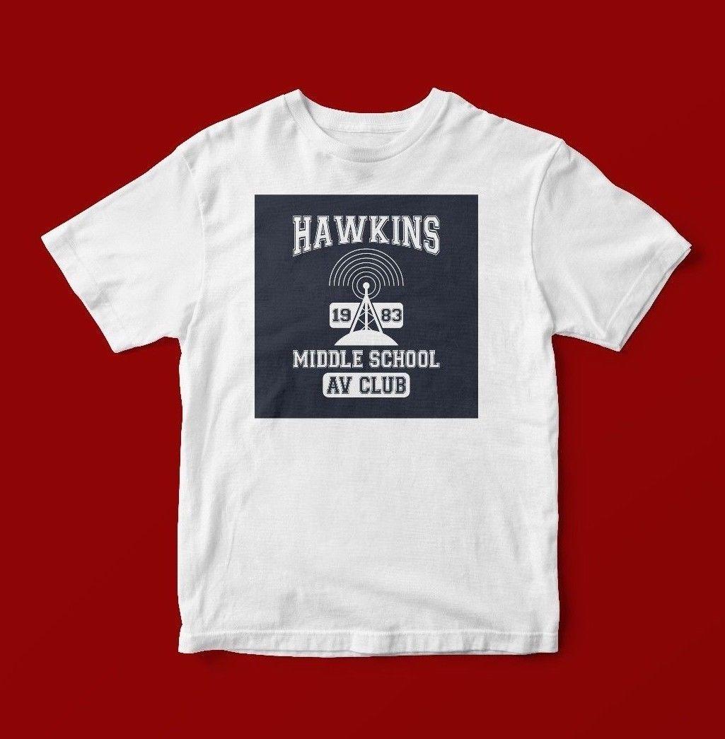 Großhandel Hawkins Middle School Av Club 1983 T Shirt Unisex 180 Von