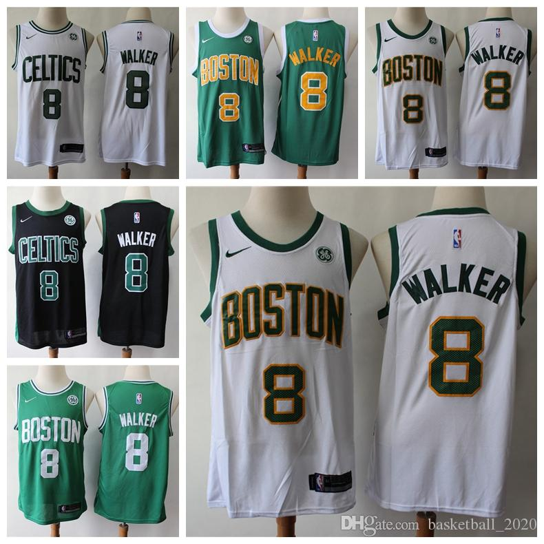 factory price 3d7e4 92249 2020 New Mens 8# John Wall Swingman Jersey Authentic Boston Celtic John  Wall Basketball Jersey Embroidery New Sponsor Logo Basketball Shorts