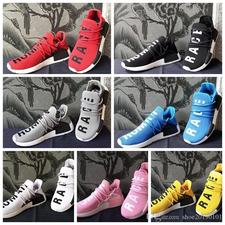6047529d4644 Großhandel 2019 Nmd Human Race HU Laufschuhe Männer Frauen Pharrell Williams  Trail Nmd Runner R1 Sport Sneakers Casual Trainer Luxus Designer Schuh Von  ...