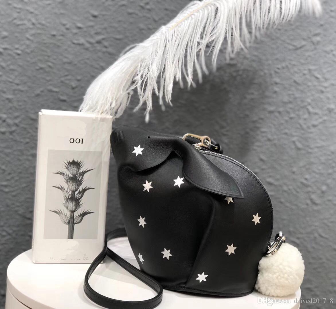 free shipping! orignal real Genuine leather fashion shoulder bag handbag presbyopic mini 0bag Rabbit shape star mobile phonen