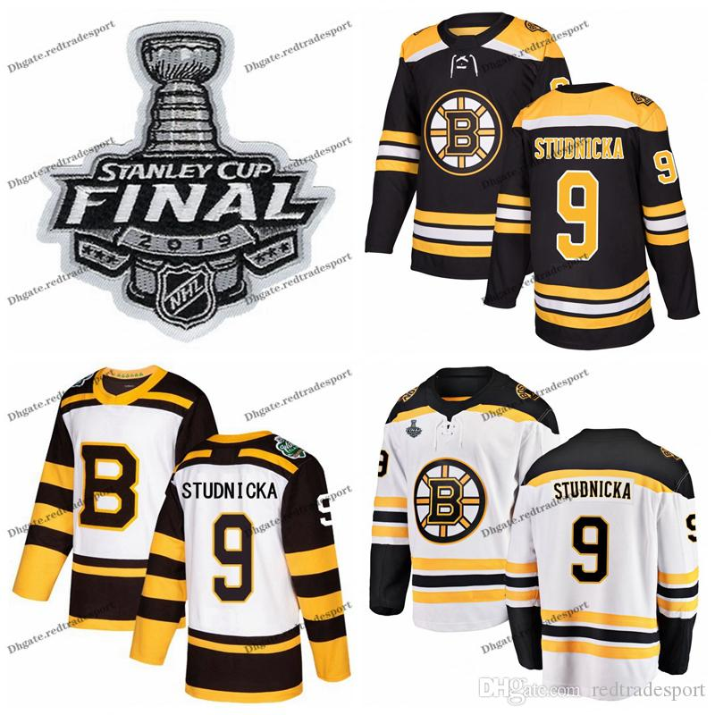 reputable site 12767 7079d Customize Jack Studnicka 2019 Stanley Cup Final Boston Bruins Hockey  Jerseys Winter Classic #9 Jack Studnicka Stitched Hockey Shirts S-XXXL