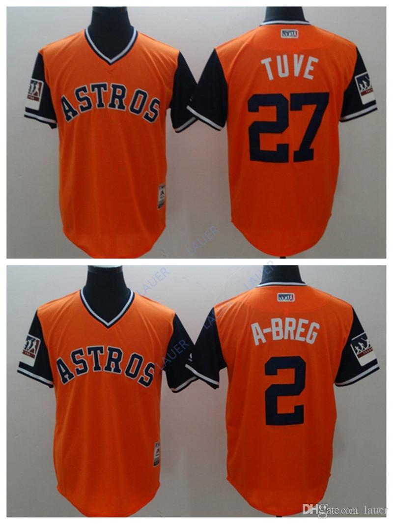 outlet store 094b7 509ee Houston Astros Jersey Men Cosido Apodo Tuve 27 2 B isbol De ...