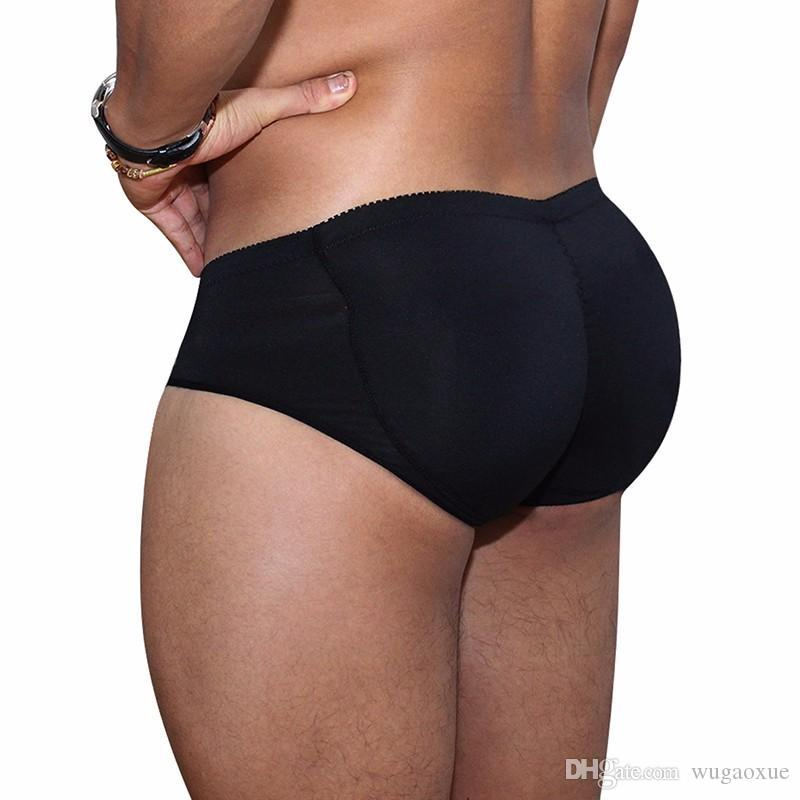4bca54f272d0 Men's Padded Underwear Lifting Butt Men's Underwear Panties Strengthening Sexy  Highlights Front + Back Hips Removable Push Cup