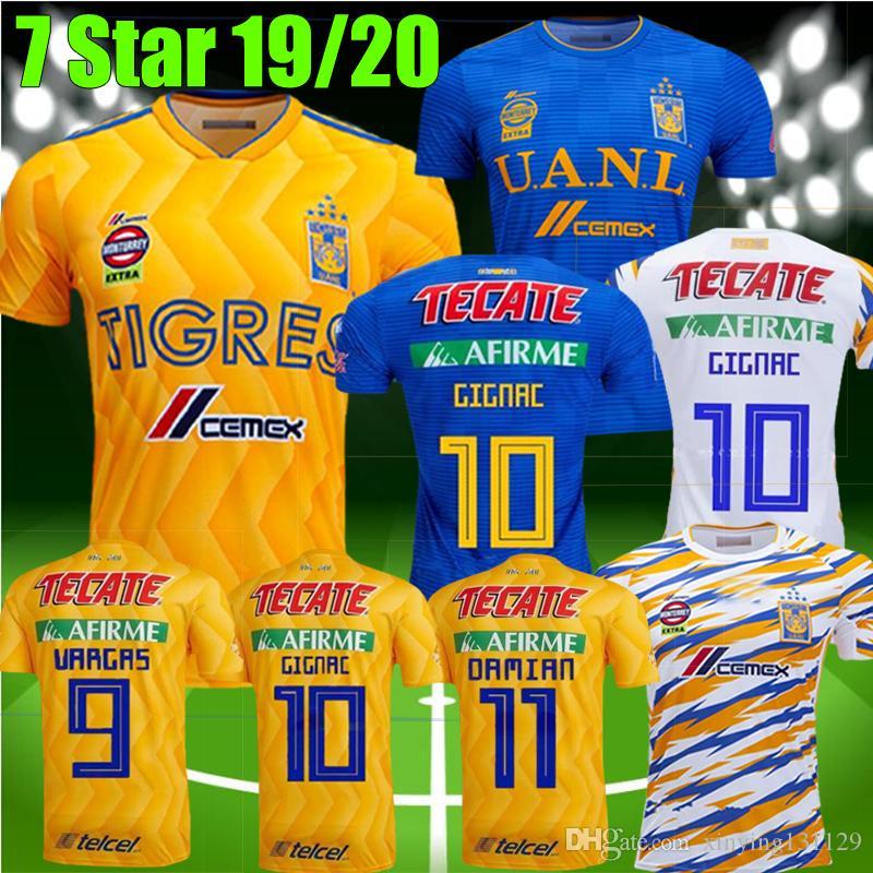 15019b1d0 2019 7 Star 2019 2020 Men Kids UANL TIGRES Tigres Soccer JERSEYS 18 ...