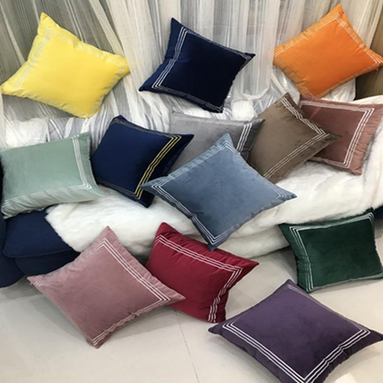 Cojines Sofa Online.Sofa Back Cover Dutch Velvet Embroidered Square Large Pillowcase Cojines Decorativos Para Sofa Pillow Cover