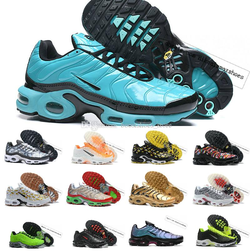 2019 New TN SHOES New Designs Top Quality AIR TN Mens Breathable Mesh Chaussures Homme TN Requin Luxury jogging Casual Sneakers