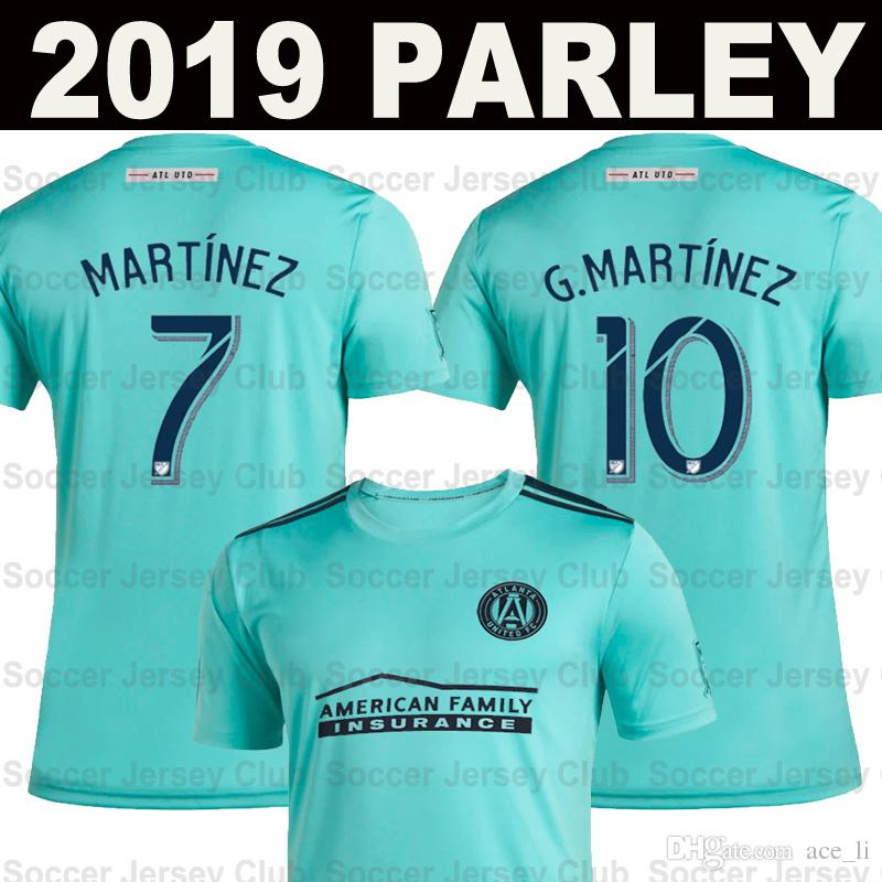 new style cb3a0 b056e 2019 2020 Parley MLS Atlanta United FC soccer jerseys 19 20 x Parley Ocean  kits MARTINEZ VILLALBA BARCO LARENTOWICZ home away Football shirt
