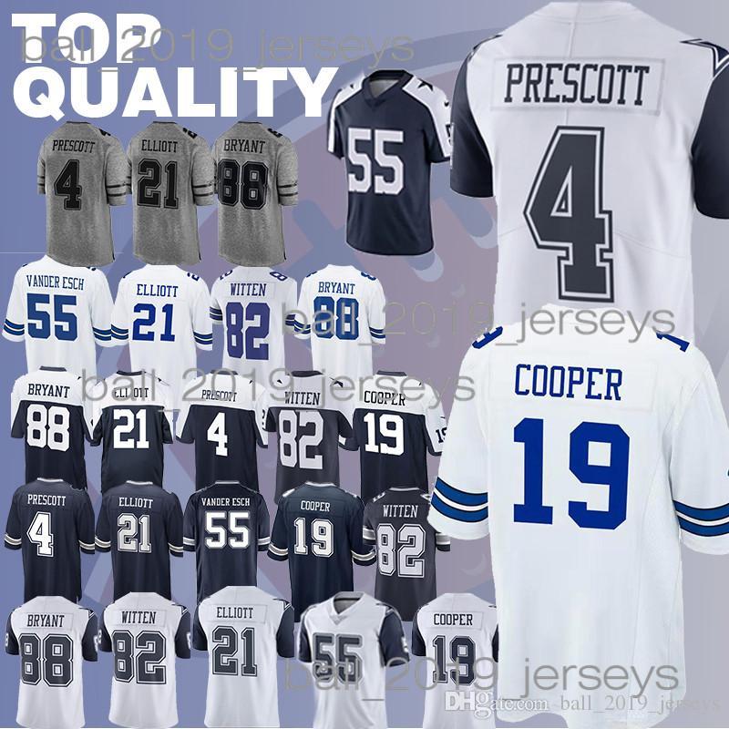 fd6b5f02c Cowboys Jerseys Ezekiel 21 Elliott Dak 4 Prescott 19 Amari Cooper ...