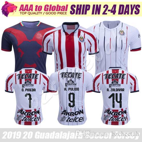 b9b820bf674 2019 Chivas Jersey 2019 2020 Mexican League Camisetas De Futbol Guadalajara  LIGA MX A.Pulido O.Pineda A.Zaldivar Football Shirt Soccer Jersey From  Bzcheetah ...