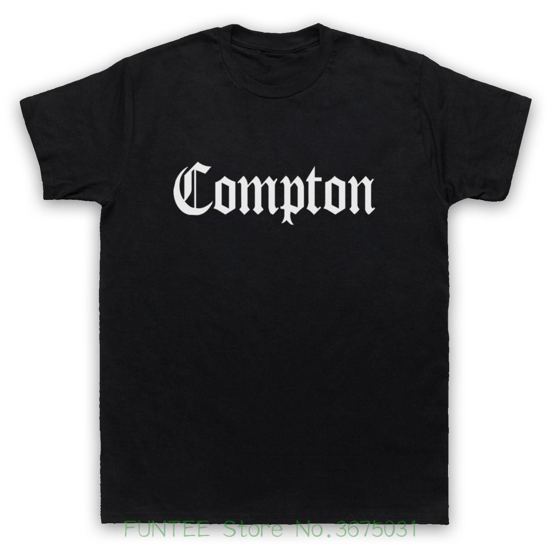 Compre Design De Moda Frete Grátis Compton Logotipo Cidade Americana  Suburbano Hip Hop Rap Gangsta Mens T Shirt Dos Miúdos De Jie030 d07c9232516