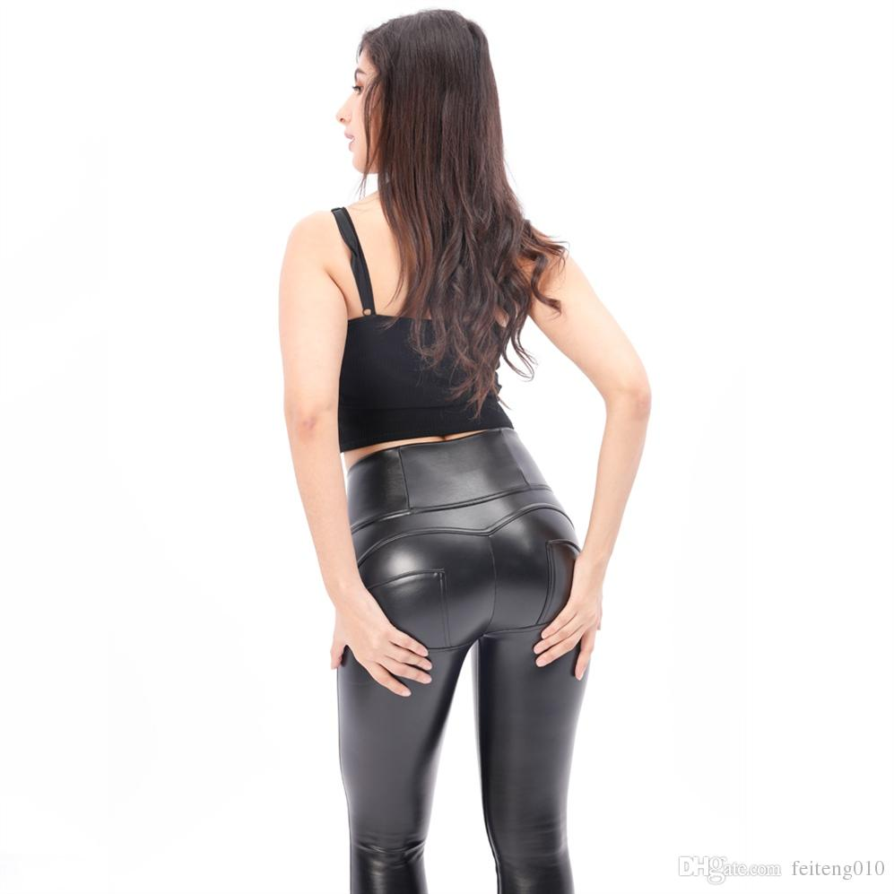 10e11267ab273f 2019 Melody Sex Shaping Pants High Waist Fleece Lined Workout Leggings Faux  Leather Yoga Pants Bum Shaping In Stock Forever #816743 From Feiteng010, ...